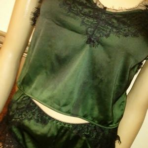 N/A Intimates & Sleepwear - 2 piece green and black lingerie outfit, small
